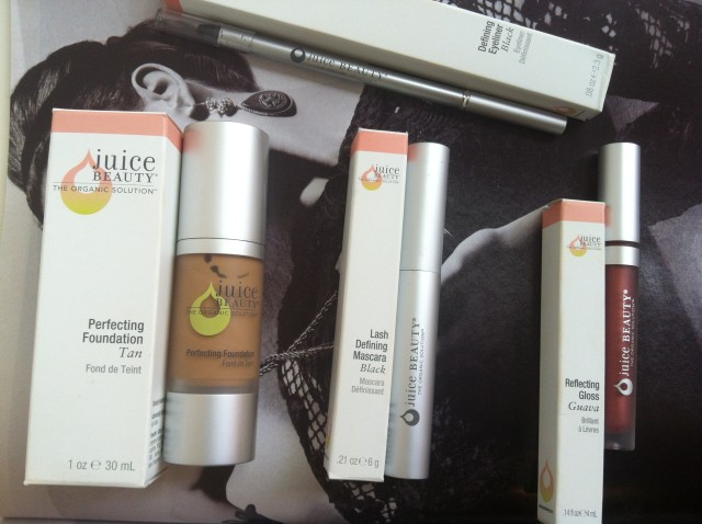 Juice Beauty make up, foundation, mascara, lip gloss, eyeliner